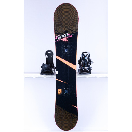 women's snowboard NITRO LECTRA, BLACK/grey, WOODCORE, sidewall, FLAT