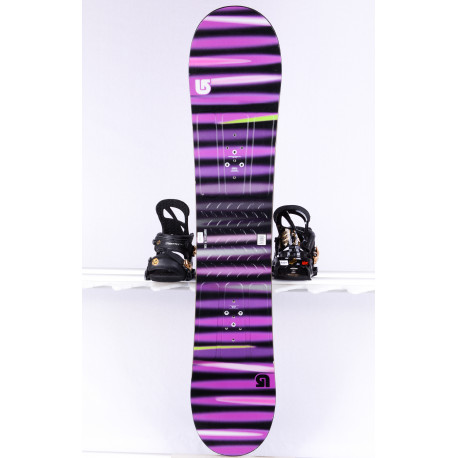 tabla snowboard BURTON PROGRESSION LTR L, VIOLET/black, WOODCORE, FLAT/ROCKER