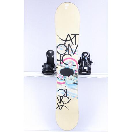 snowboard ATOMIC PIQ, WHITE/blue, Woodcore, sidewall, FLAT/ROCKER