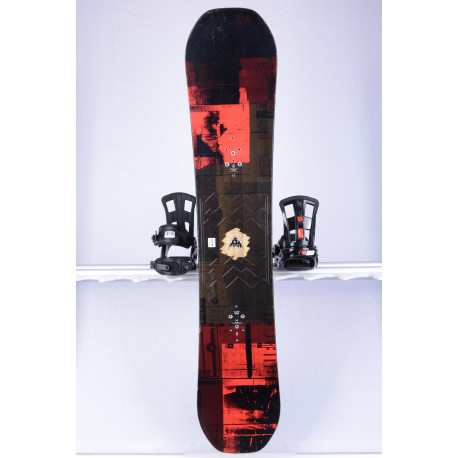 snowboard BURTON RADIUS WIDE, black/red, Woodcore, sidewall, FLATtop, ROCKER