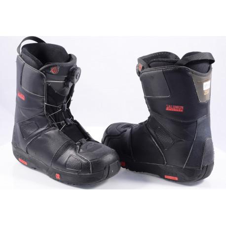 chaussures snowboard SALOMON SAVAGE RTL black/red, BOA TECHNOLOGY ( en PARFAIT état )