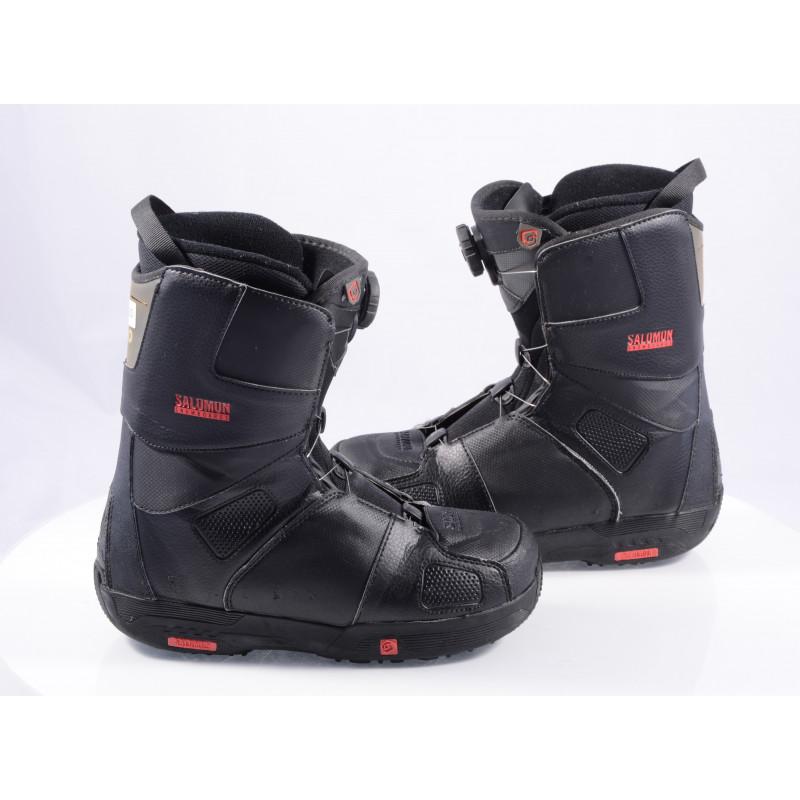 snowboardové topánky SALOMON SAVAGE RTL black/red, BOA TECHNOLOGY ( TOP stav )