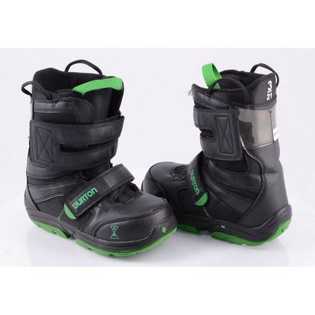 detské snowboardové topánky BURTON PROGRESSION, BLACK/green ( ako NOVÉ )