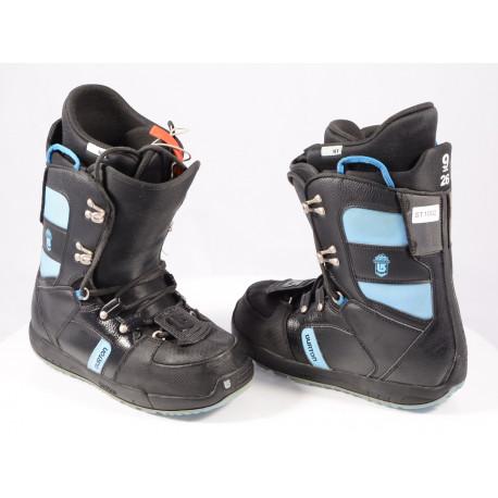 snowboard boots BURTON WOMENS PROGRESSION BLACK/blue, TRUFIT