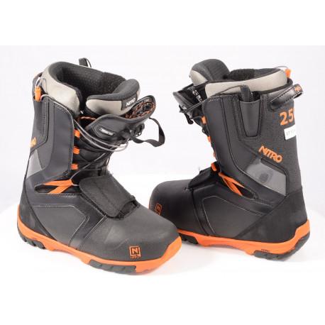snowboardové topánky NITRO AGENT TLS 2020 BLACK/orange ( ako NOVÉ )