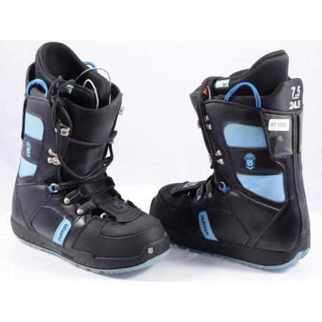 chaussures snowboard BURTON WOMENS PROGRESSION, Truefit, IMPRINT 1, BLACK/blue ( en PARFAIT état )