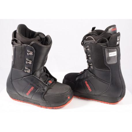 chaussures snowboard BURTON MENS PROGRESSION IMPRINT 1, BLACK/red ( en PARFAIT état )