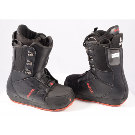 snowboard boots BURTON MENS PROGRESSION IMPRINT 1, BLACK/red TOP condition )