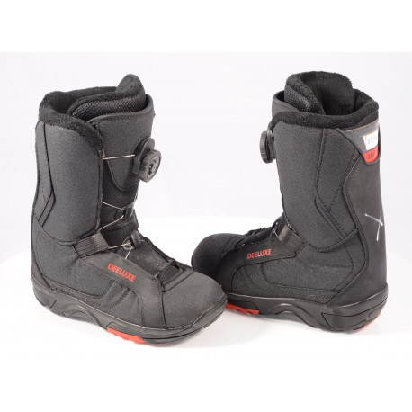 snowboardové topánky DEELUXE GAMMA BOA technology, COILER system, SECTION CONTROL LACING, black/red ( TOP stav )