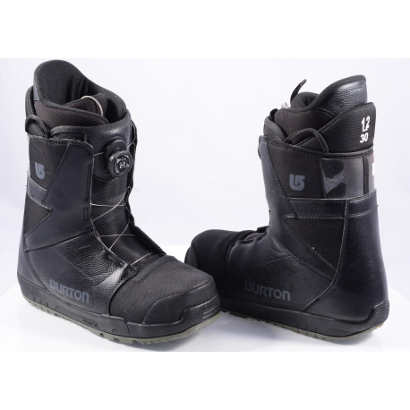 chaussures snowboard BURTON MENS PROGRESSION BOA MOTO, IMPRINT 1, BLACK/grey ( comme NEUVES )
