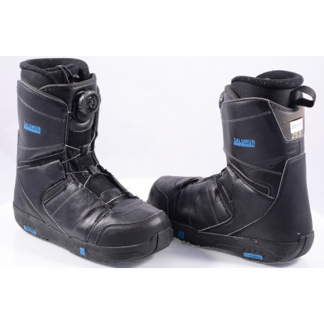 buty snowboardowe SALOMON FACTION BOA, BOA technology, BLACK/blue ( TOP stan )