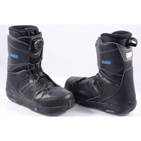 chaussures snowboard SALOMON FACTION BOA, BOA technology, BLACK/blue ( en PARFAIT état )
