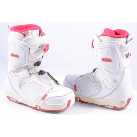 chaussures snowboard femme SALOMON PEARL W, BOA technology ( en PARFAIT état )