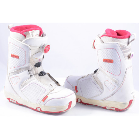 dames snowboard schoenen SALOMON PEARL W, BOA technology ( TOP staat )