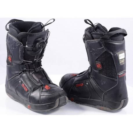 snowboardové topánky SALOMON SAVAGE RTL black/red, BOA technology