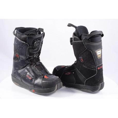 snowboard boots SALOMON SAVAGE RTL black/semish, BOA TECHNOLOGY