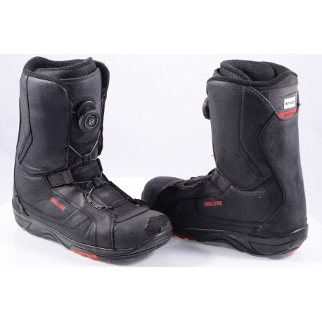 snowboard boots DEELUXE DELTA BOA technology, COILER system, SECTION CONTROL LACING, black/red