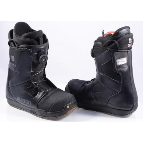 snowboard boots BURTON MENS PROGRESSION BOA MOTO, IMPRINT 1, BLACK/grey
