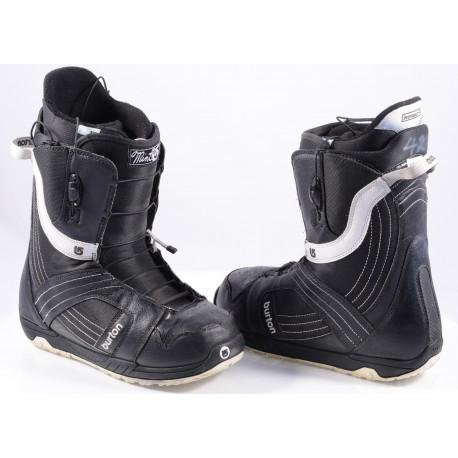 snowboard boots BURTON WOMENS MINT BLACK/white, IMPRINT 1, TRUEFIT