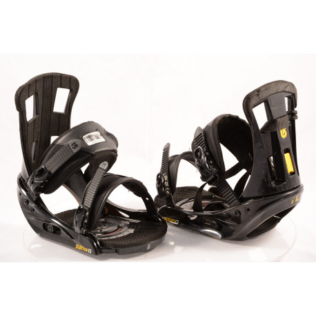 fixations snowboard BURTON PROGRESSION black/yellow, size L/XL