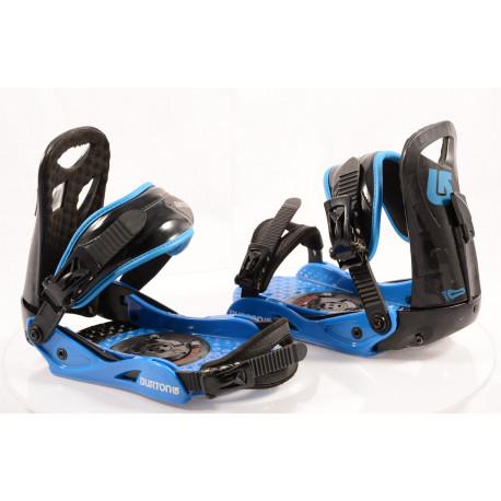snowboard binding BURTON PROGRESSION black/blue, size S/M ( TOP condition )