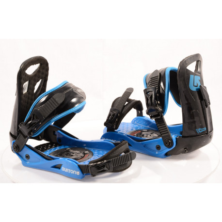 snowboardové viazanie BURTON PROGRESSION black/blue, size S/M ( TOP stav )