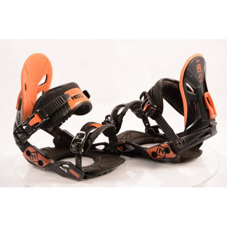 snowboard binding NITRO FREESTYLE CUSTOM, BLACK/orange, size S/M
