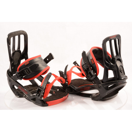 fijaciones snowboard SALOMON PACT UNITE, BLACK/red, size M/L ( condición TOP )