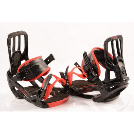 fixations snowboard SALOMON PACT UNITE, BLACK/red, size M/L ( en PARFAIT état )