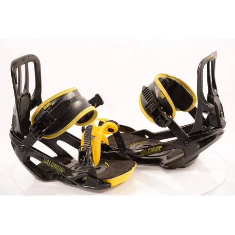 fixations snowboard SALOMON PACT UNITE, BLACK/yellow, size L/XL