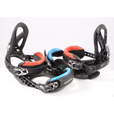 snowboardové vázání ELAN ACCELERATOR, BLACK/red/blue, size M/L