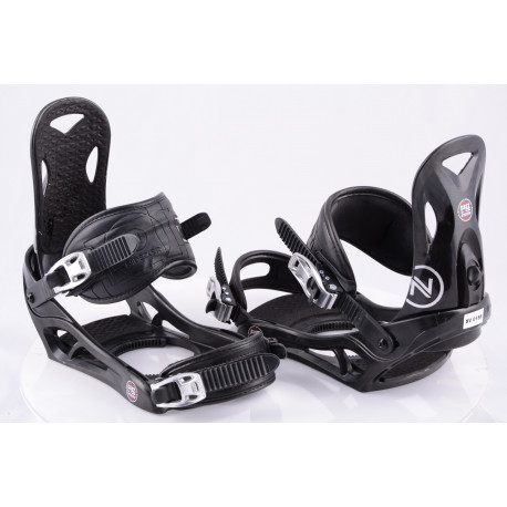 fixations snowboard NIDECKER EASY LOCK, BLACK, SWISS made ( comme NEUVES )