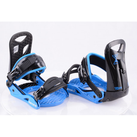 fixations snowboard neuves BURTON PROGRESSION LOWSTACK II LE, BLACK/blue, size S/M ( NEUVES )