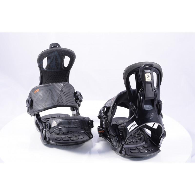 nové snowboardové vázání FIREFLY FT7.5 FASTEC, BLACK/orange, size S/M ( NOVÉ )