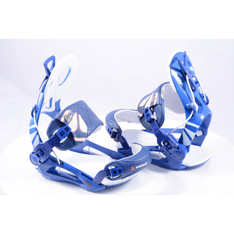 nieuwe snowboard bindingen FIREFLY FT7.5 FASTEC, BLUE/white, size M ( NIEUW )