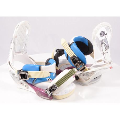 snowboard binding BURTON ESCAPADE, IBK, WHITE/blue, size M