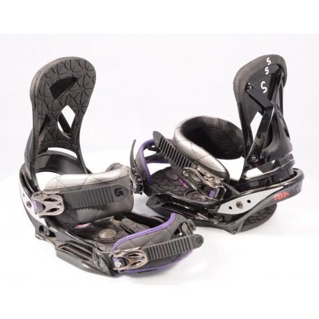 snowboard binding BURTON LEXA EST, IBK, BLACK/violet, THE CHANNEL, size S
