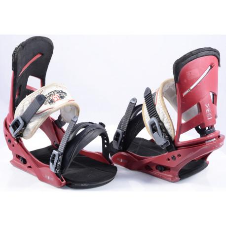 snowboard binding BURTON MISSION red, size L