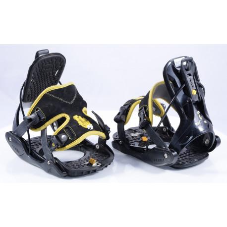 snowboardové vázání FLOW EVOLVE Black/yellow, size M ( TOP stav )