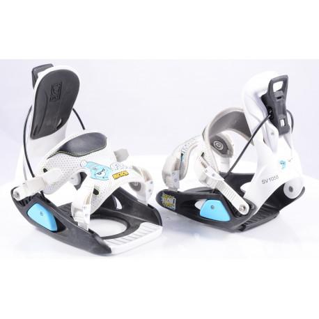 snowboardové vázání FLOW MICRON white/black, size XS/S ( TOP stav )