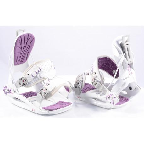 snowboardové viazanie FLOW MUSE white/purple, size M ( TOP stav )