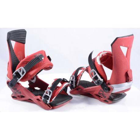snowboard binding NITRO ZERO red, size M
