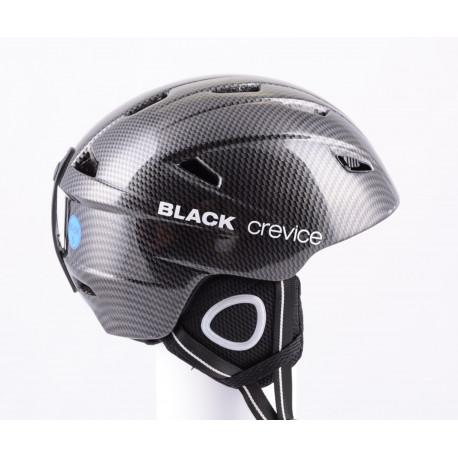 casco de esquí/snowboard BLACK CREVICE CARBON 2019, antibacterial, air vent