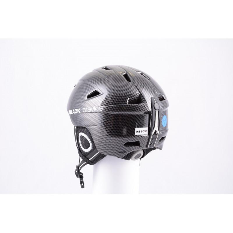 lyžiarska/snowboardová helma BLACK CREVICE CARBON 2019, antibacterial, nastaviteľná, air vent ( ako NOVÁ )