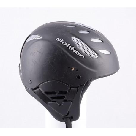 lyžiarska/snowboardová helma SLOKKER by MANGO, BLACK, made in ITA, nastaviteľná, air vent