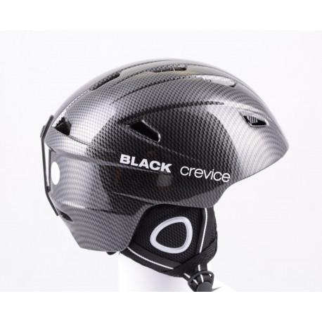 lyžiarska/snowboardová helma BLACK CREVICE CARBON 2019, antibacterial, nastaviteľná, air vent ( NOVÁ )