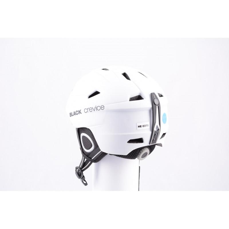 lyžařská/snowboardová helma BLACK CREVICE WHITE 2019, antibacterial, air vent