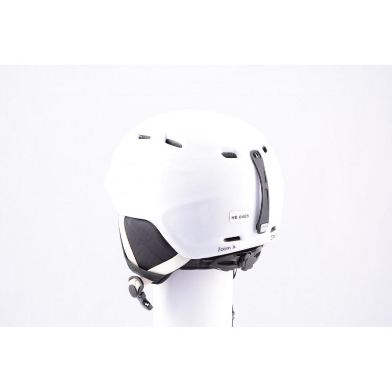 lyžiarska/snowboardová helma SMITH ZOOM JR. white, nastaviteľná, air vent ( TOP stav )