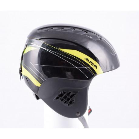 laskettelu/lumilautailu kypärä ALPINA CARAT black/yellow, air vent, säädettävä ( TÄYDELLINEN kunto )