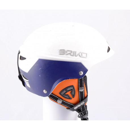 lyžiarska/snowboardová helma BRIKO SNOWY 2019, white/blue, nastaviteľná